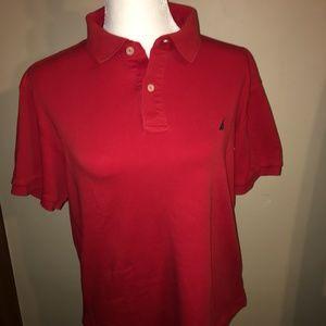 Mens Red Collard shirt